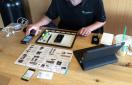 iPhone repair at a local Starbucks